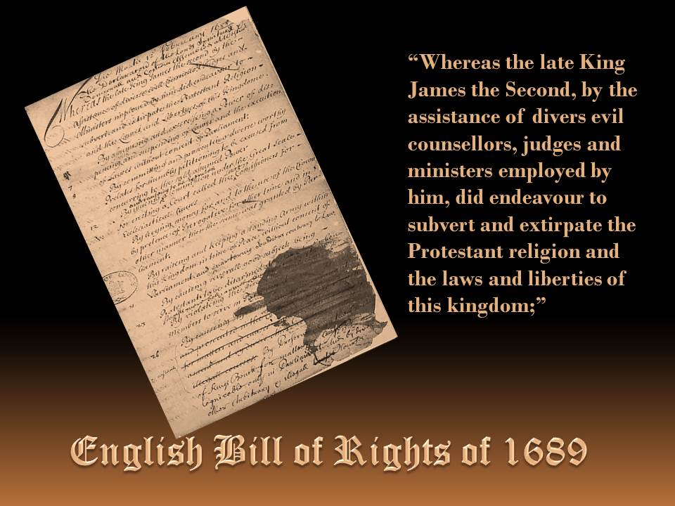 English Bill of Rights – 1689 | Founders Keep