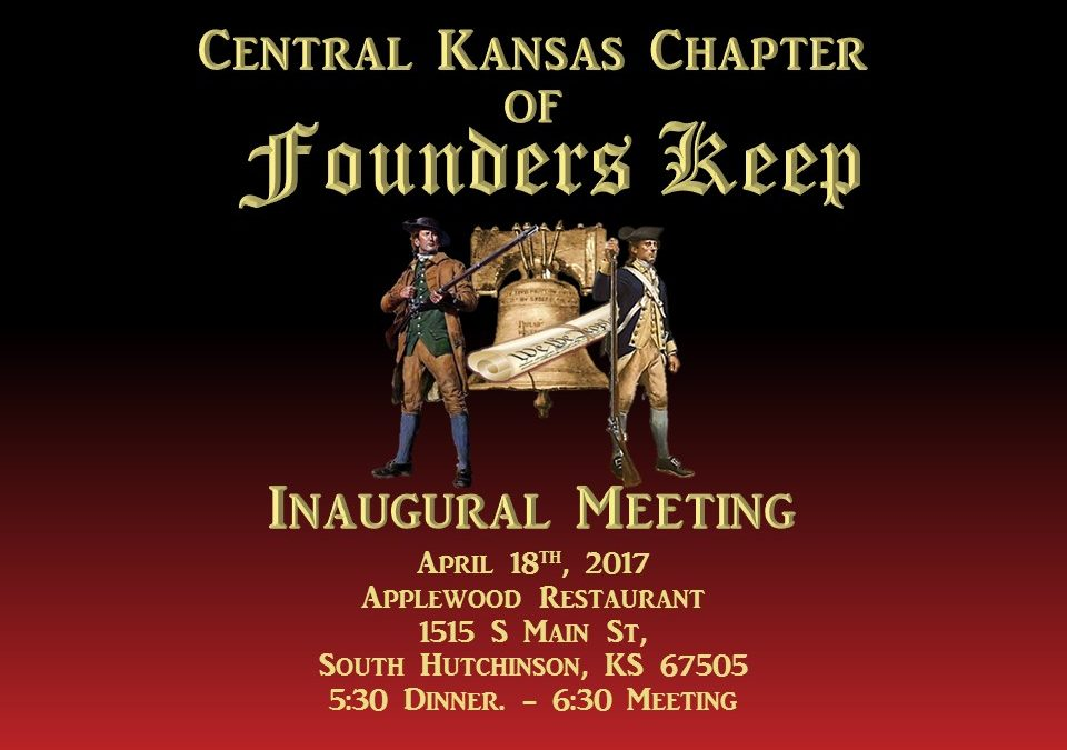 Central Kansas Chapter of Founder Keep – Inaugural Meeting